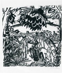 Bathers under Trees by @artistkirchner #expressionism