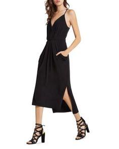 BCBGeneration Faux Wrap Midi Dress | Bloomingdale's