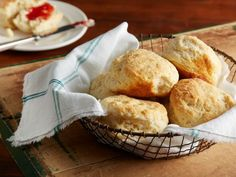 Ree Drummond's Biscuits : The holidays are the perfect time to splurge on these homemade buttermilk biscuits. Ree bakes hers in a cast-iron skillet and brushes the tops with melted butter for a golden-brown effect.