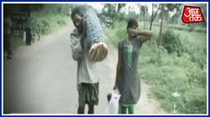 Odisha Man Carries Wife's Body For 10 Kms With Daughter After Being Deni...