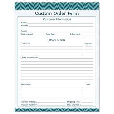 Sales Order Form Order Form Pinterest Order Form Free - Free sales order form template