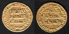 Early Islamic Gold Coin Umayyad Gold Dinar al-Walid Ibn Abd al-Malik 87 AH or 706 AD