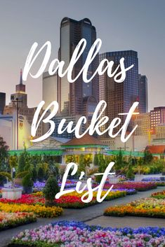 Dallas is a city full of fun things to see and do, incredible food, and people who thoroughly enjoy having a good time. We've prepared the ultimate Dallas bucket list so you don't miss any of this beautiful city's highlights and top attractions. Visit Dallas, Visit Texas, Dallas Texas, Austin Texas, Dallas Travel, Texas Travel, Travel Usa, Texas Roadtrip, Beach Travel