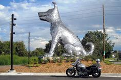 In association with the near future opening of the Denver Animal Shelter, comes a 20-foot stainless steel dog sculpture made of 90,000 dog tags. Created by artists, Laura Haddad and Tom Drugan, the massive dog was commissioned with the help of the Denver Public Art Program. View the video to see the process of it's creation and installation.