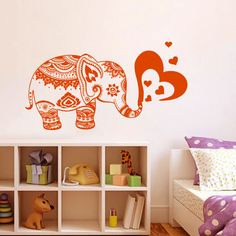 Find More Wall Stickers Information about Vinyl Wall Decals Elephant Heart Indian Baby Room Nursery Home Boho Decor Adesivo De Parede Mural Yoga Flowers Wall Art Pic D798,High Quality vinyl wall decals,China adesivo de parede Suppliers, Cheap wall decals from Happiness Home Decoration on Aliexpress.com