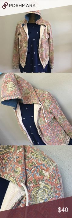 LUCKY BRAND Adorable floral hooded jacket.  Typical lucky brand style with typical lucky brand comfort.  This jacket is soft and comfy. Lucky Brand Jackets & Coats