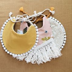 Pretty baby girl outfits. Drool bibs. Boho. Vintage. Eclectic.
