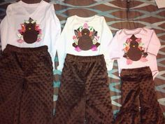 Turkey suits I made for the grands