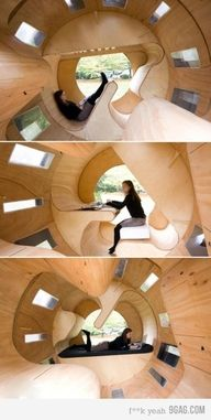 An epic rotatable wooden structure.