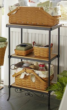Fun and Functional Wrought Iron 3-Level Organizer by Longaberger