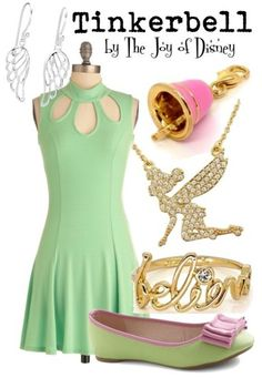 Inspired by Tinkerbell from the Disney movie Peter Pan! --  #fashion #disney #tinkerbell