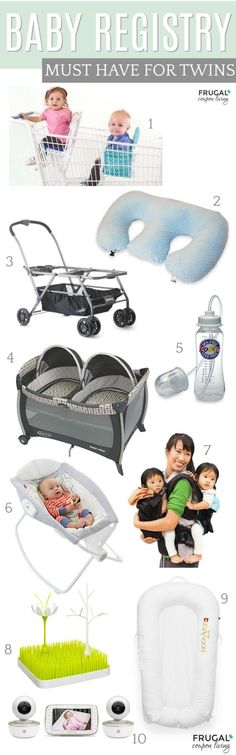 Twin Baby Registry Ideas on Frugal Coupon Living. Must haves for your twins plus Twin Tips and Tricks.