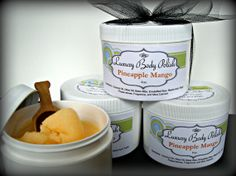 Pineapple Mango Sugar Scrub Made with Coconut by NorasSoapScents, $13.99