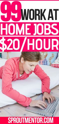 99 work from home companies hiring now! visit this post and apply for a work at home remote job paying above $12 per hour. #workfromhomejobs #workathomejobs #onlinejobsfromhome #makemoneyonlinefromhome #homebusiness #remotejobs #sidejobs