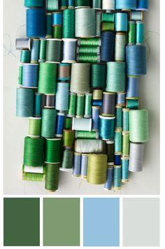 Variations of blues & greens