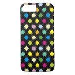 Black Color Irregular Dots iPhone 7 Case