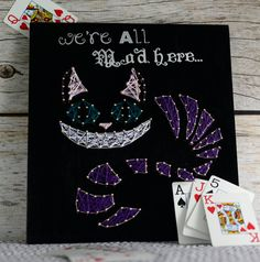 The Cheshire Cat is one of the most well-know characters in literature. This unique character plaque will be perfect for any bookworm and Alice in Wonderland fanatic. $35 Customize colors!