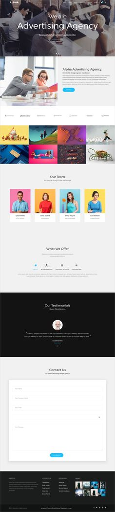 Alpha dot is awesome multipurpose responsive #WordPress theme for creative #advertising agency website with 18+ niche homepage layouts, 75+ pages & 20+ widgets download now..