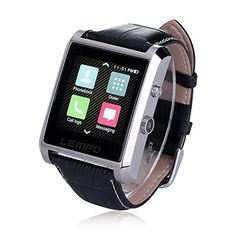 """DM08 Bluetooth 4.0 Smart Watch Waterproof Wrist Watch Phone with Camera Touch Screen and Leather Strap Band Smartwatch for IOS iPhone 6 6 plus Samsung Android Smartphones. DM08 smart watch is compatible for android and IOS phones, and it comes with IPS full view 1.54"""" TFT 240*240piexl curved surface capacitive touch screen. Function: Passometer, Fitness Tracker, Sleep Tracker, Message Reminder, Call Reminder, Answer Call, Dial Call, Push Message, watch phone, supports all iphone and…"""