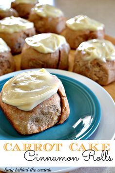 Carrot Cake Cinnamon Rolls w/ Cream Cheese Frosting  ---------  'carrot cake' cake mix is added to the yeast dough.