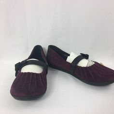 Born Slip on Suede Leather Casual Career Mary Jane Ballet Style flats 9 1/2 Wine #Born #BalletFlats #Casual