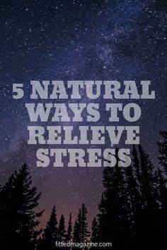 Go natural and stress less! #stress