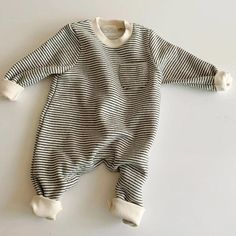 Baby Jumpsuit, Striped Jumpsuit, Jumpsuits For Girls, Girls Rompers, Baby Boy Fashion, Kids Fashion, Baby Boy Outfits, Kids Outfits, Boho Baby Clothes