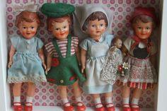muñecas pequeñas antiguas - Buscar con Google