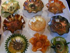 Antique Carnival Glass | If you want to make any carnival glass purchases, ask me first & I ...