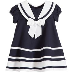 Bonnie Jean Baby Girls Navy Blue Sailor Dress with Knickers at Childrensalon.com