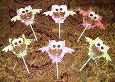 """""""Thank goodness for Little Debbie!! My daughter and I just made these Baby Shower Favors for a friend of ours. We used Little Debbie Star Crunch treats for the body of the owl. They were a blast to make and we know they'll be a hit because... """"Whooo can resist the scrumptious flavor of Star Crunch Snacks!?!!! ( Owl design by Lori Whitlock )"""" -Kristi Faricelli"""