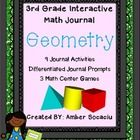 Get your journal prompts, interactive activities, and center games/review/assessments ALL in ONE journal package!   This interactive geometry journ...
