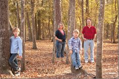 Since it will be in the trees...Family Photography Pose