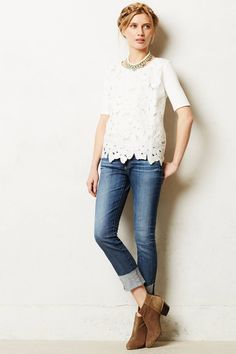 AG Stevie Cuffed Jeans - anthropologie.com