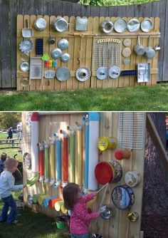 backyard patio designs Some Nice DIY Kids Playground Ideas for Your Backyard Nette DIY Kinderspielplatz-Ideen fr Hinterhof 47 Kids Outdoor Play, Outdoor Play Spaces, Kids Play Area, Backyard For Kids, Diy For Kids, Garden Kids, Outdoor Fun, Backyard Games, Diy Garden Ideas For Kids