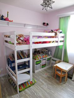 interior-ideas-stunning-kids-bunk-beds-ikea-by-white-wooden-bunk-bed-having-stairs-also-wooden-shelves-under-the-bed-palced-on-the-gray-flooring-in-the-white-wall-color-gorgeous-kids-bunk-beds-ikea-wi.jpg 1,200×1,600 pixels