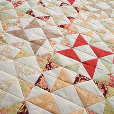 Windmill quilt by Material Girl Quilts, via Flickr