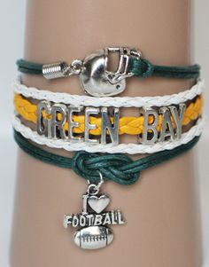 Green Bay Packers bracelet. Get 3 FREE $15.00 ModWraps at www.gomodestly.com/modwraps with coupon: PINTERESTFREE