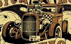 Kustom Kulture Maniac by Till Bleifuß - actionrokka, via Behance