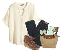 """""""☔️ Rainy days in Maine ☔️"""" by ellapearlrose ❤ liked on Polyvore featuring H&M, Paul by Paul Smith, Sperry Top-Sider, Kate Spade, Gucci, Kendra Scott and Longchamp"""