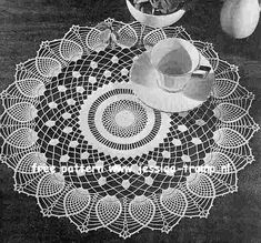Pineapple Sheer doily free vintage crochet doilies patterns