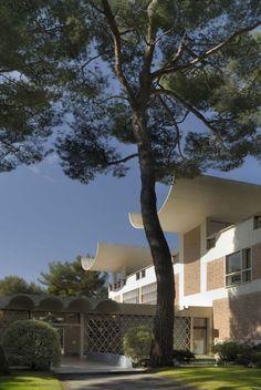 Fondation Maeght, by Catalan architect Josep Lluis Sert, built 1964, Saint-Paul-de-Vence, France