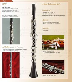 Rossi clarinet Cenit model