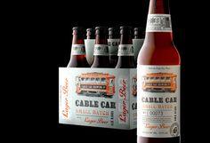 Cable Car Small Batch Lager Beer Label and Packaging Design Beverage Packaging, Bottle Packaging, Design Da Garrafa, Craft Bier, Beer Label Design, Beer Brands, Wine And Beer, Bottle Design, Packaging Design