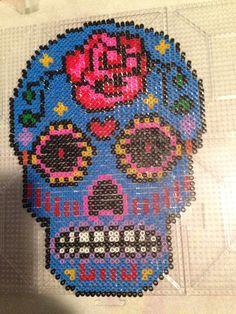 Sugar skull pattern perler beads