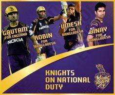 #Congratulations Gautam Gambhir Robin Uthappa Umesh Yadav & #VinayKumar on being selected to represent #India in the upcoming International tours to #Bangladesh & #England
