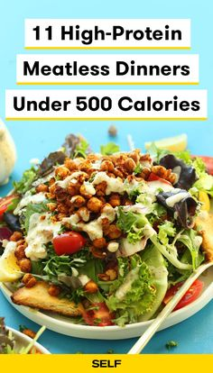 11 High-Protein Meatless Dinners Under 500 Calories 11 High-Protein Meatless Dinners Under 500 Calories,Lose belly fat Eating meat-free isn't always easy. Sure, veggie-centric dishes can totally be tasty and nutrient-packed, but produce alone won't. Vegetarian Recipes Under 500 Calories, Dinners Under 500 Calories, 500 Calorie Meals, High Protein Vegetarian Recipes, Vegetarian Recipes Dinner, High Protein Snacks, Healthy Recipes, Vegetarian Italian, Plant Based Dinner Recipes