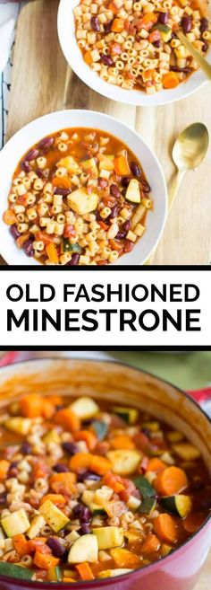 Minestrone Soup - Spaceships and Laser Beams Wrap Recipes, Vegetarian Recipes, Cooking Recipes, Healthy Recipes, Vegitarian Soup Recipes, Cheap Clean Eating, Clean Eating Snacks, Healthy Eating, Chili Soup