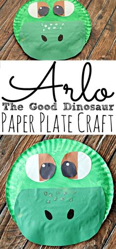 The Good Dinosaur Arlo Paper Plate Craft! Just a fun craft to make before going to see the movie in theaters on Thanksgiving week! Dinosaur Art Projects, Preschool Art Projects, Toddler Art Projects, Toddler Crafts, Preschool Crafts, Dinosaur Crafts For Preschoolers, Senses Preschool, Preschool Themes, Class Projects