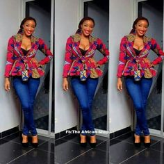 Ankara tops generally are every woman's desire as it helps to enhance the natural figure. It fits all body sizes extremely well, and its Ankara styles are outstanding and spectacular. African Inspired Fashion, African Print Fashion, Africa Fashion, Fashion Prints, African Print Dresses, African Fashion Dresses, African Dress, African Prints, Ankara Fashion